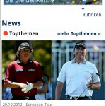 Screenshot - golf.de Mobile Website - Android