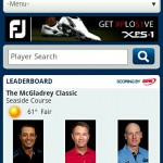 Screenshot - PGA Tour Mobile Website - Android