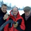 Martin Sternberg (Golfplatzarchitekt) mit Bo Callander (Ideengeber und Präsident des Bandy Clubs) sowie Martin Novotny (Planer und Architekt des Vinterparadis)