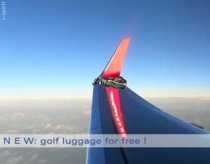 Schön festbinden: der alternative Golfbagtransport?