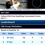 Screenshot - LPGA Tour Mobile Website - Android