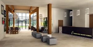 Einblicke in das moderne und doch naturnah gehaltene Clubhaus
