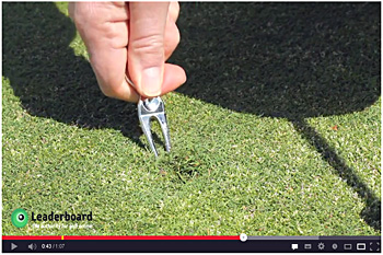 "screenshot aus dem You Tube™-Video ""Repairing your pitch marks correctly"" 
