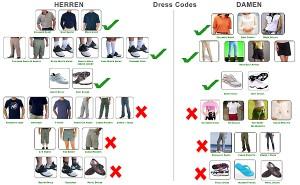 Auf dem Golfplatz gilt üblicherweise eine Kleiderordnung, die der jeweilige Club selbst festlegen kann - was ihm auch zusteht.
