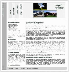 Die eigenständige Website i-spirit.de verschwindet im März 2014 - und integriert sich inhaltlich in amgolfers BLOGzine