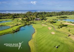Austragungsort der AfrAsia Bank Mauritius Open 2015: Der Heritage Golf Club auf Mauritius. Das hier 18. Grün bietet nicht unendlich viel Platz.