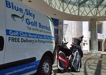 Blue Sky Golf Rental liefert das Leihset direkt zur Unterkunft