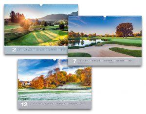 Der Golfkalender 2018 - immer wieder ein optischer Genuss und Aufheller des Alltags für Golfer
