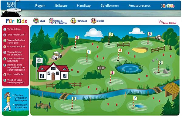 Die Website Rules4You für Kids im Überblick: bunt und interaktiv