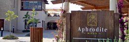 Einfahrt zum Aphrodite Hills Resort