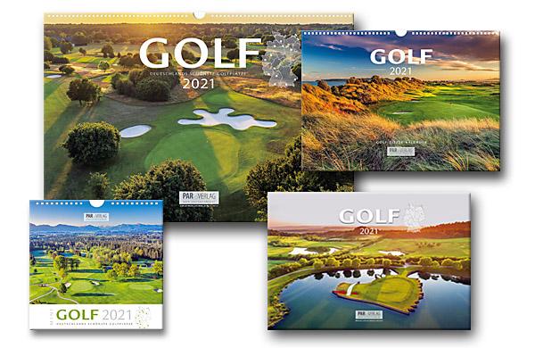 Die neue Vierer-Kollektion des PAR Golfkalender 2021