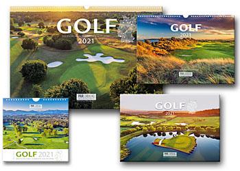 Neue Vierer-Kollektion der Golfkalender 2021 - PAR Verlag
